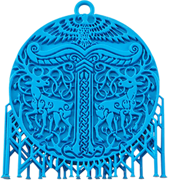 Precision-Mould-Blue-Pendant